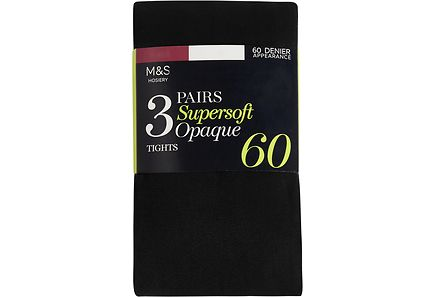 Marks & Spencer - M&S  Supersoft 40 DEN sukkahousut, 3-pack
