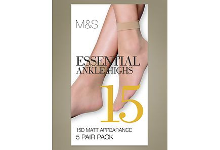 Marks & Spencer - M&S 15 DEN nilkkasukka, 5-pack