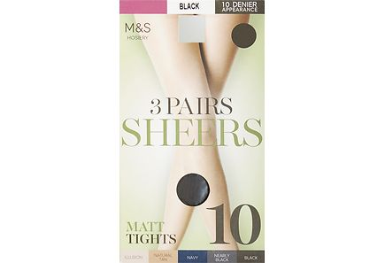 Marks & Spencer - M&S 10 DEN sukkahousut 3 paria