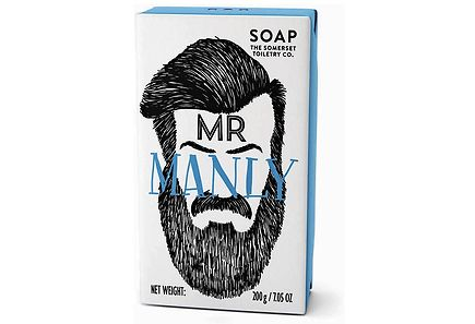The Sommerset Toiletry - Bearded Mens Mr Manly palassaippua 200 g