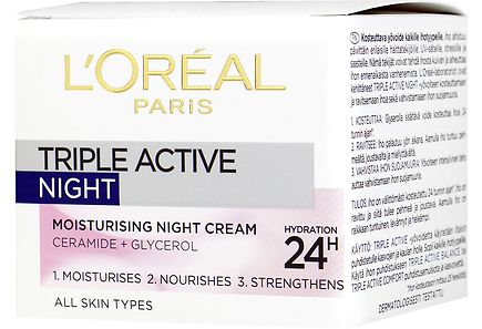 L'Oréal Paris - L'Oréal Paris 50ml Triple Active kosteuttava yövoide