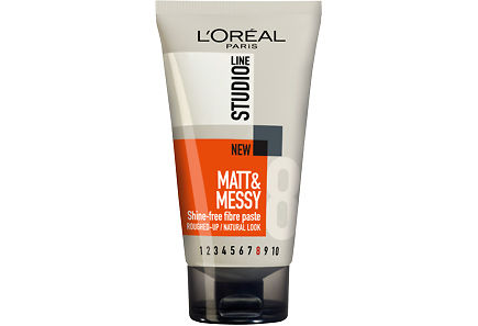 L'Oréal Paris - L'Oréal Paris Studio Line 150ml Matt & Messy Paste Ultra-voimakas muotoilutahna, 8/10