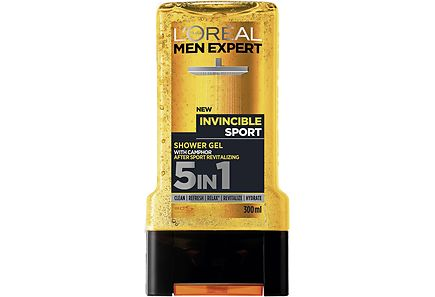 L'Oréal Paris Men Expert - L'Oréal Paris Men Expert 300ml Invincible Sport 5in1 suihkugeeli