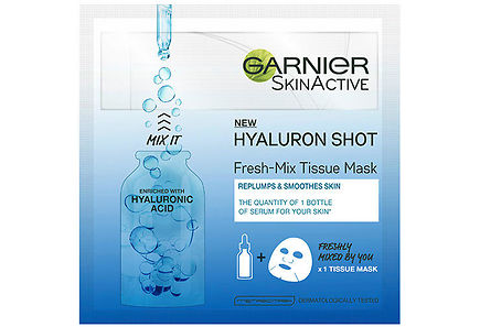Garnier - Garnier Skin Active Fresh-Mix Tissue Mask Replumping Shot With Hyaluronic Acid kasvonaamio 33g