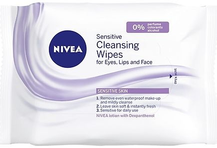 Nivea - NIVEA 25kpl Daily Essentials Sensitive Cleansing Wipes -puhdistusliinat