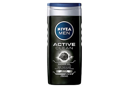Nivea - NIVEA MEN 250ml Active Clean Shower Gel -suihkugeeli