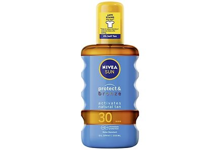 Nivea - NIVEA SUN 200ml Protect & Bronze Tan Activating Protecting Oil Spray SK30 -aurinkosuojaöljy