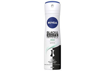 Nivea - NIVEA 150ml Black & White Invisible Fresh Deo Spray -antiperspirantti