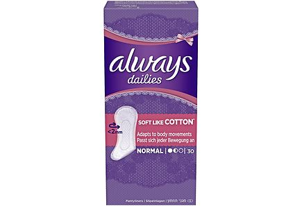 Always - Always 30kpl Normal Soft Like Cotton pikkuhousunsuoja