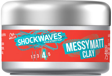 Wella - Wella Shockwaves 75ml Messy Hiusvaha