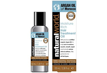 Natural World - Natural World Argan Oil of Marocco Moisture Rich Hair Treatment Oil hiusöljy 100 ml