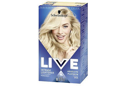 Swartzkopf - Schwarzkopf Live Color XXL 00A Absolute Platinum Color Intense hiusväri