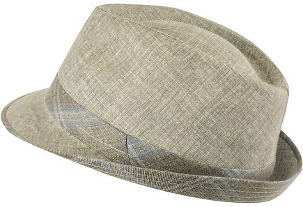 KN Collection - KN Collection miesten Trilby-mallinen hattu 44T/Bic Lino