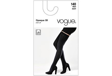 Vogue - Vogue Opaque Stay Up 3D 140 den sukat