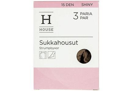 House - House sukkahousut shiny 15 den 3-pack