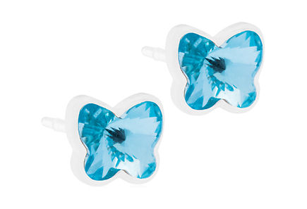 BLOMDAHL - Blomdahl MP Butterfly  korvakorut 5mm, Aquamarine