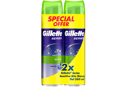 Gillette - Gillette 2x200 ml Series Sensitive partageeli